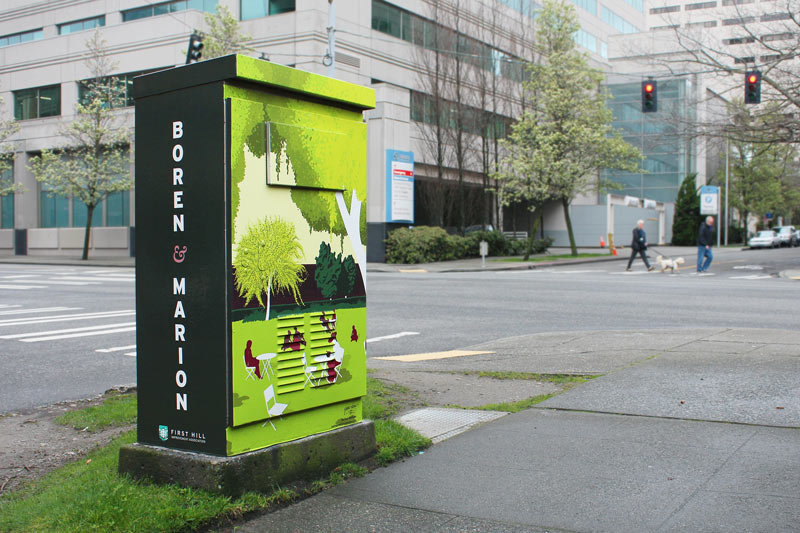 Public Art: Signal Boxes Across First Hill (Boxes 11-16)