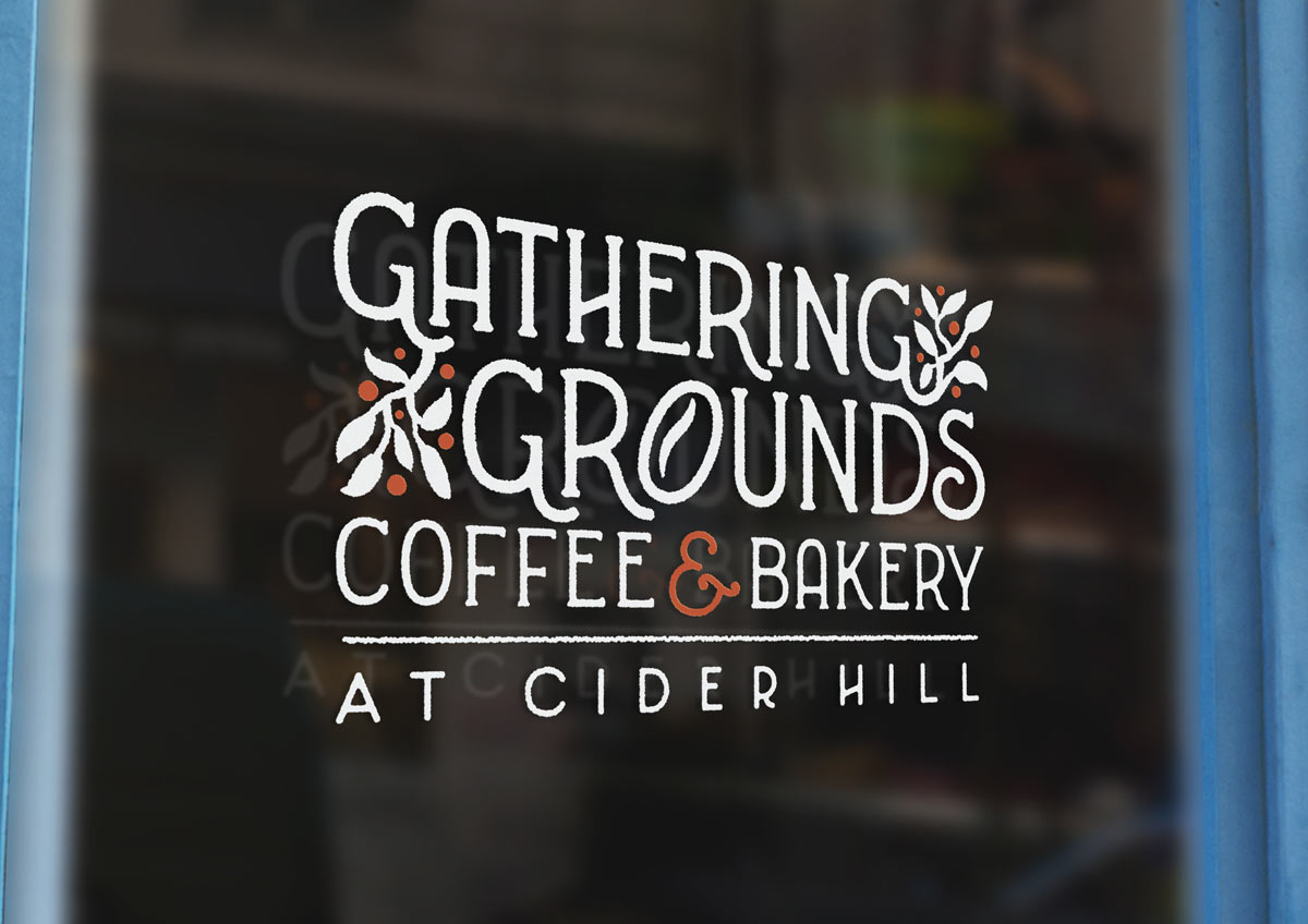 Gathering Grounds Coffee and Bakery logo design